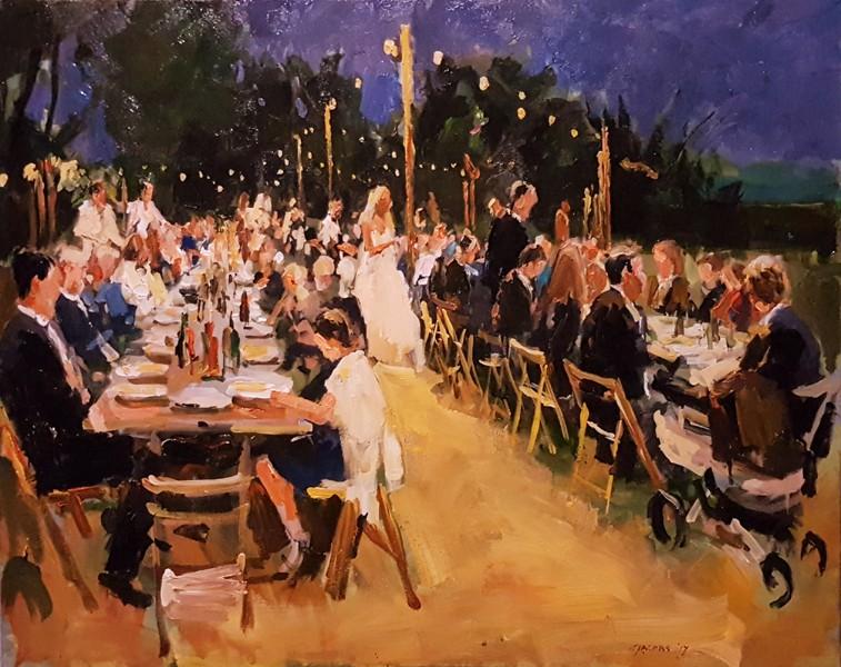 live painting bruiloft